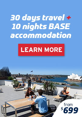 30 Days Travel & 10 Nights Base Accommodation Package from $699