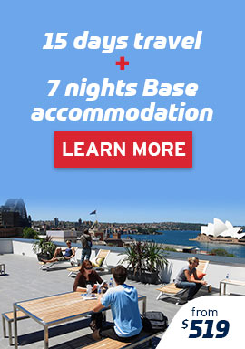 15 Days Travel & 7 Nights Base Accommodation Package from $519